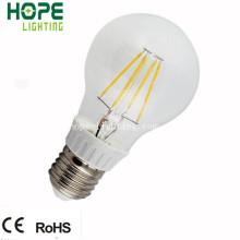 Bombilla de filamento de plástico + PC A60 8W E27 LED