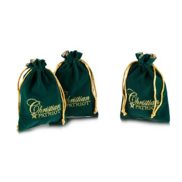 Black embroidery velvet bags for gifts