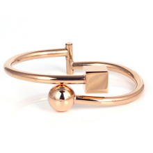 Wholesale Stainless steel Lady Rose Gold Cuff Bracelet  Bangle