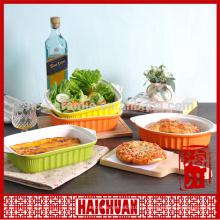 Cerámica ronda amarillo hornear ware con tapa de silicona Lunch box taquilla tazón japonés fideos bowl