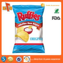 Folha de alumínio de qualidade alimentar saco de embalagem de plástico transparente para chips / lanches