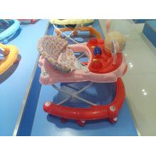 Plástico aprendizaje musical Baby Walker con juguetes