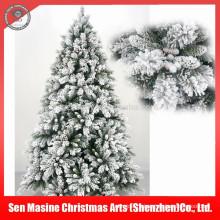 Оптовые декоративные Floked снег ПВХ искусственная елка