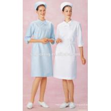 Algodão poli barato 80/20 21 * 21 100 * 53 165GSM doutor uniforme tecido