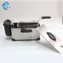 Großhandel OEM 3L Mini Familie hochwertige Antihaft-Fritteuse aus rostfreiem Stahl