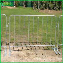 galvanized concert portable steel crowd control barrier with flat feet