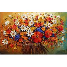 Canvs arte hecho a mano flor de pintura al óleo (kvf-022)