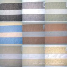 Tecido cego de zebra de dupla camada transparente