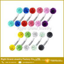 HOT ! Pink, Aqua, Crystal, Blue, Purple, Red eyebrow piercing stud