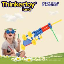 2015 Plastic Interlocking Plastic Laser Guntoy for Kids