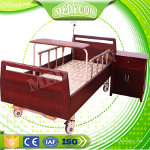 Two function eldly manual home care wooden bed for medical equipment