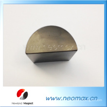 Customized strong Neodymium magnet in semicircle shape half round shape for sales
