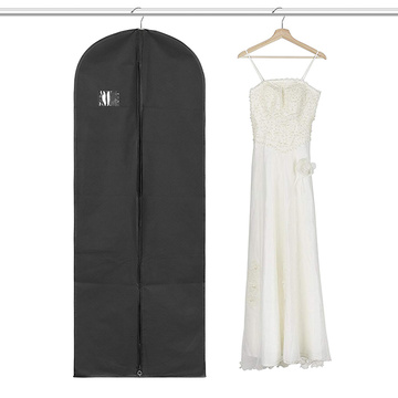 Mais novo Foldover plástico Zipper Wedding Dress Garment Bag