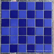 Mosaico de cerámica de porcelana azul para piscina