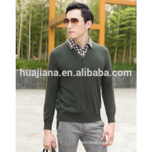 100% cashmere knitting men's shirt collar sweater