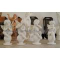 Stein Marmor Carving Cherub Skulptur Angel Statue (SY-X0156)