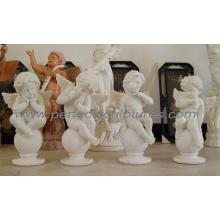 Камень Мраморная резьба Херувим скульптуры Статуя ангела (SY-X0156)
