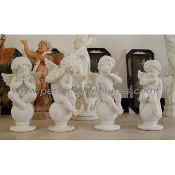 Stone Marble Carving Cherub Sculpture Angel Statue (SY-X0156)