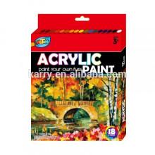 professional 12ml-12color acrylic color paint set