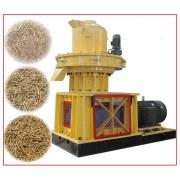 Rice hust pellet making machine with grinder