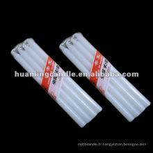 Bougie blanche blanche sans gouttes (9G - 90G)