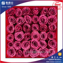 Preciosa Acrílico Transparente 9 Rose Caja Venta al por mayor