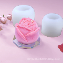 wholesale DIY ice block making flower mousse cake mold rose silicone candle moulds