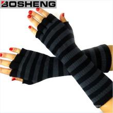 Gants en tricot d'hiver chauds pour femme, gants à main sans doigts