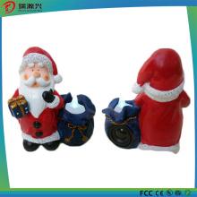 Ployresin Night Light Santa Claus Mini USB Bluetooth Speaker