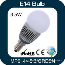 Green Light 3W E14 LED Bulb