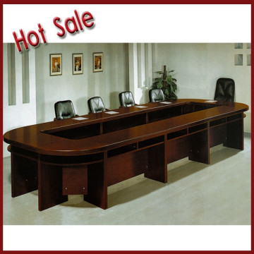 wooden veneer conference table
