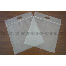 White Transparent Plastic Ziplock Packaging Bag