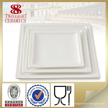 Assiettes de restauration en gros traiteur, plat en porcelaine pour restaurant, ensemble de vaisselle dubai