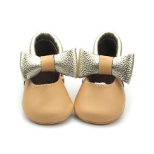 Wholesales Genuine Leather Baby Girls Dress Shoes
