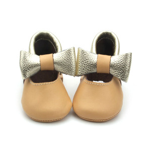 Atacado Genuine Leather Baby Girls Dress Shoes