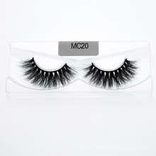 Wholesale 18mm 20mm 25mm 3D 5D False Real Mink Fur Strip Eyelash with Custom Package Box