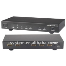 3x2 HDMI switch splitter