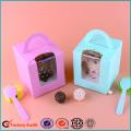 Single Pack Cupcake Packaging Box PVC Window