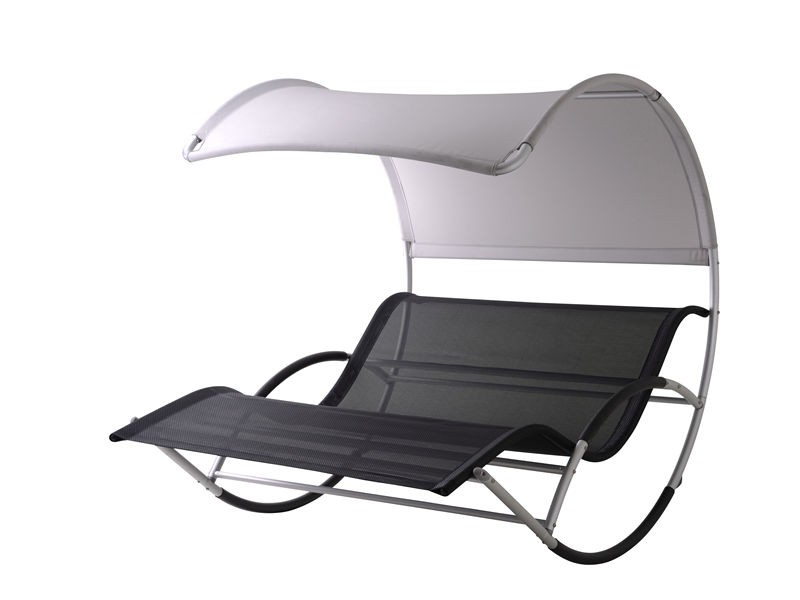 Aluminum double seat  chaise lounge