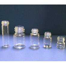 10ml en verre transparent Mini tubulaire fioles pour l'emballage cosmétique