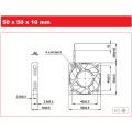 Axial ventilador DC 5010 para ambiente de alta temperatura