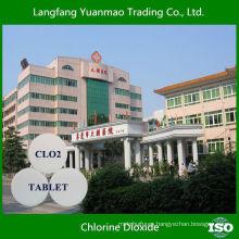 Desinfectante ampliamente utilizado tableta de dióxido de cloro para el hospital de aguas residuales de esterilización de agua