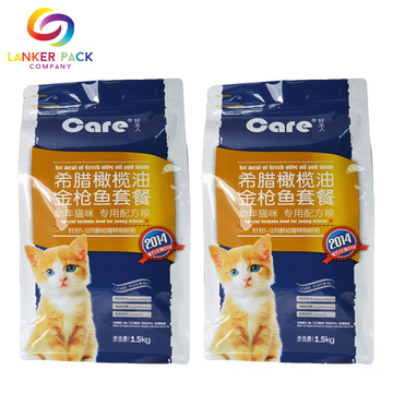 Kvalitet Custom Flat Bottom Pet Food Packaging Manufacturers