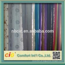 Jacquard cortina tecido feito de poliéster 40% 60% viscose