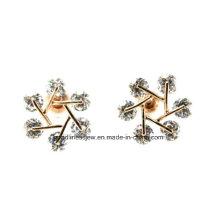 Diseño especial y venta de plata 925 joyas de moda flor de nieve copo de nieve de diseño Stud Earrings Regalos del día de San Valentín para la niña E6340