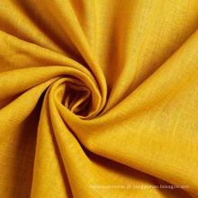30% Rayon 70% Linho Tecido Slub para vestuário