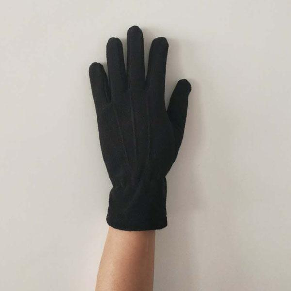 Anti Slip Warm Sports Polar Fleece Glove Back