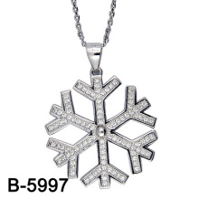 Fashion Jewelry 925 Sterling Silver Snowflake Pendant