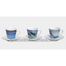KC-03009sea imagen taza de café con platillo, taza de café de alta calidad