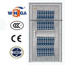 Entrée Extérieur Porte de sécurité en verre en acier inoxydable 304 (W-GH-11)